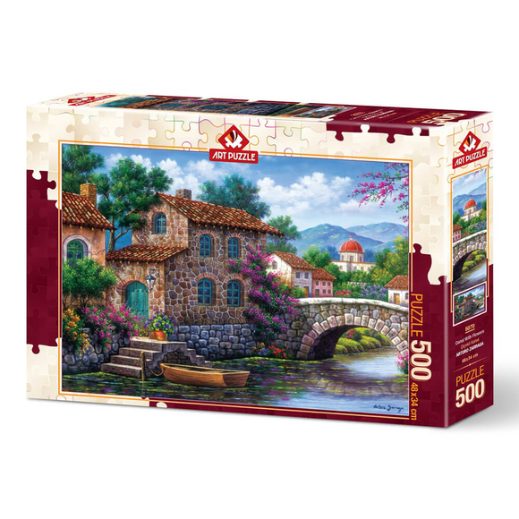 Art Puzzle 500 Parça Çiçekli Kanal 5070