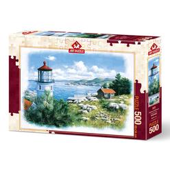 Art Puzzle 500 Parça Kıyıdaki Fener 5076 - Thumbnail