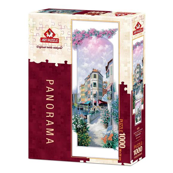 Art Puzzle Çiçekler İçinde Venedik 1000 Parça Panorama Puzzle 4484