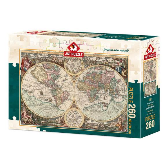Art Puzzle Dünya Haritası 260 Parça Puzzle 4276