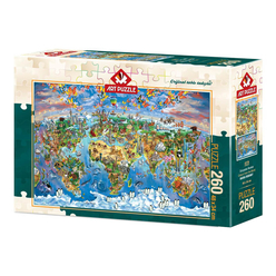 Art Puzzle Dünyadan Renkler 260 Parça Puzzle 4278 - Thumbnail