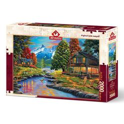 Art Puzzle İki Yaka Bir Orman 2000 Parça Puzzle 4575 - Thumbnail
