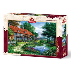 Art Puzzle Kuğulu Bahçe 1500 Parça Puzzle 4551 - Thumbnail
