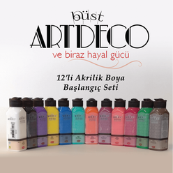 Artdeco Akrilik Boya Başlangıç Seti 140 ml 12 li - Thumbnail