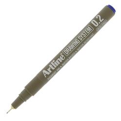 Artline Çizim Kalemi 0.2 mm Mavi EK-232 - Thumbnail