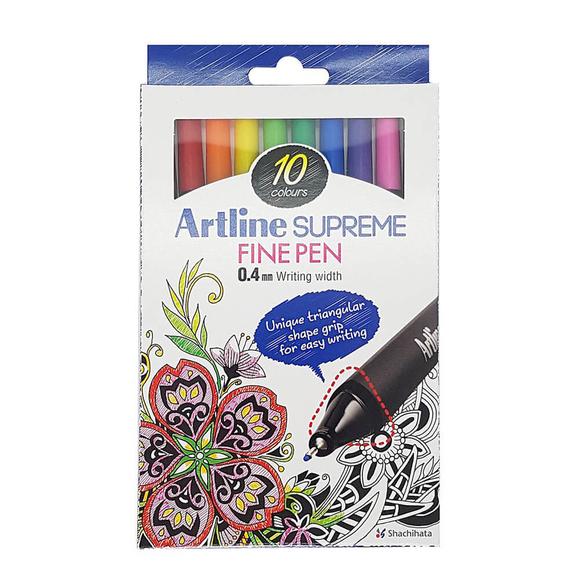 Artline Supreme Fine Pen Set 10 Renk