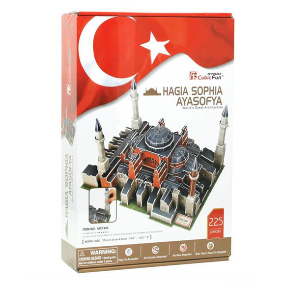 Ayasofya Camii 225 Parça 3D Puzzle MC134H