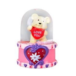Ayılı Love You Mini Kar Küresi S00019406 - Thumbnail