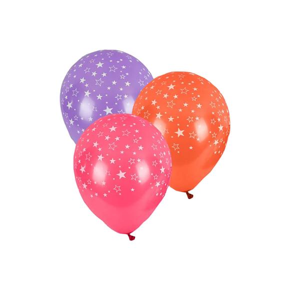 Balonevi Çepeçevre Yıldız Baskılı Balonlar 14 Adet