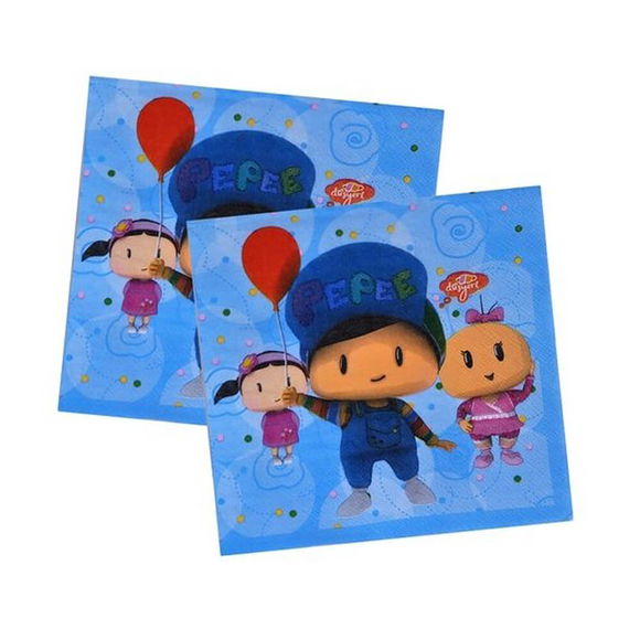 Balonevi Pepee Baskılı Peçete 33X33 cm