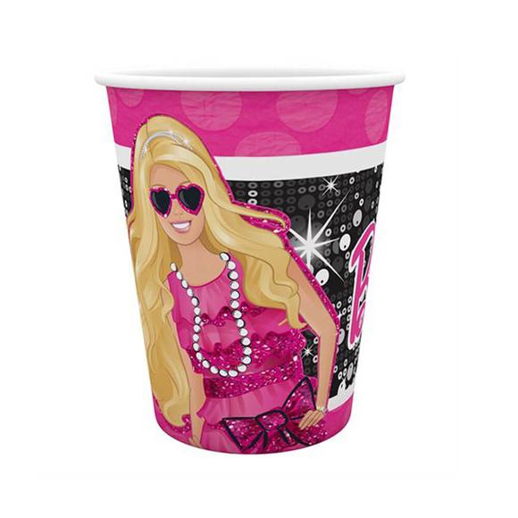 Barbie Bardak 8'li