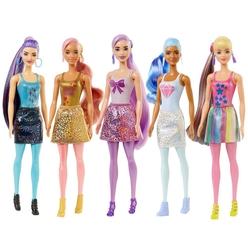 Barbie Color Reveal Renk Değiştiren Sürpriz Barbie Işıltılı Bebekler Serisi 7 Sürpriz İçerir GWC55 - Thumbnail