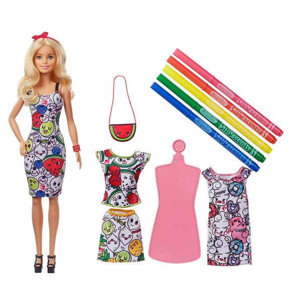 Barbie Ve Crayola Renkli Kıyafetler GGT44