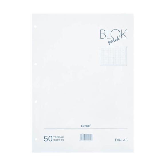 Bayındır Çizgili Klasör Yedeği A4 50 Yaprak Beyaz