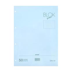 Bayındır Çizgili Klasör Yedeği A4 50 Yaprak Mavi - Thumbnail
