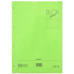 Bayındır Çizgili Klasör Yedeği A4 50 Yaprak Yeşil BBN0212 - Thumbnail