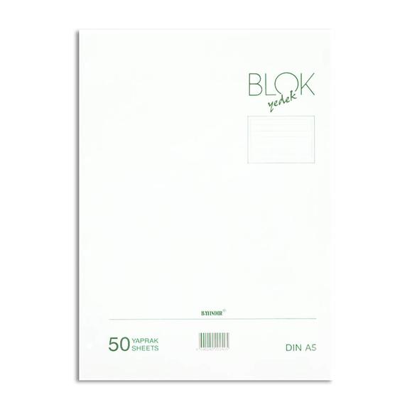 Bayındır Çizgili Klasör Yedeği A5 50 Yaprak Beyaz BBN0221