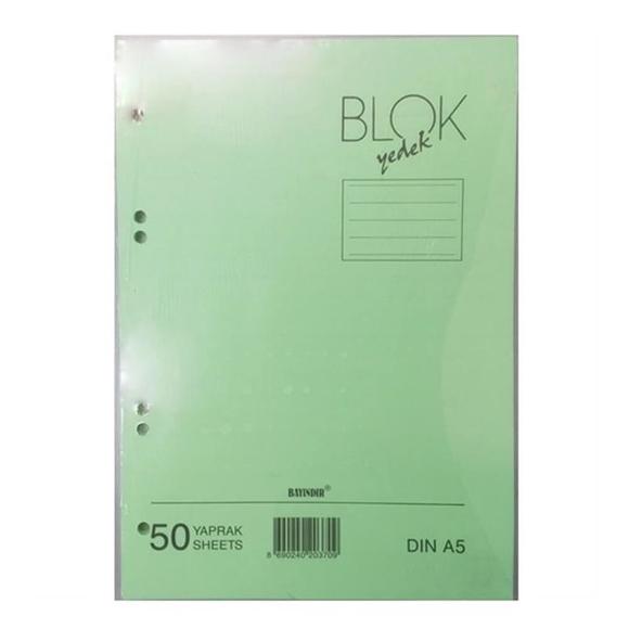 Bayındır Kolej Yedek A5 Çizgili Yeşil 50 Yaprak BBN0242