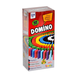 Bemi Eğitici Oyun Domino 100 Parça Ahşap A0268 - Thumbnail