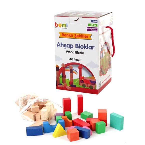 Bemi Toys Ahşap Bloklar 40 Adet 1642