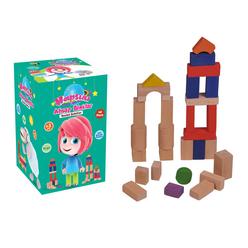 Bemi Toys Ahşap Bloklar Hapşuu 40 Parça 1925 - Thumbnail