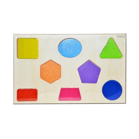 Bemi Toys Ahşap Puzzle Geometrik Şekiller 1482