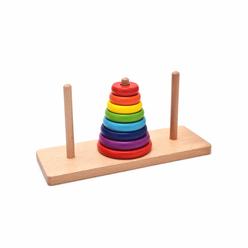 Bemi Toys Renkli Hanoi Kulesi Ahşap 1536 - Thumbnail