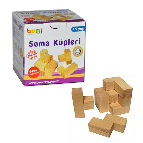 Bemi Toys Soma Küpü Ahşap Oyun Kartlı 1420