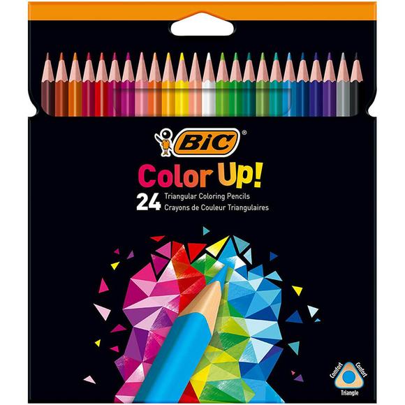 Bic Color Up Üçgen Kuru Boya Kalemi 24 Renk 950528