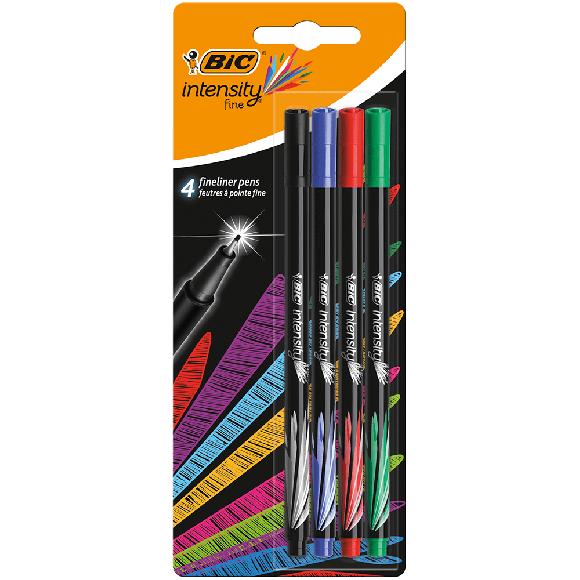 Bic İntensity Fine Liner Keçeli Kalem 4'lü Blister Klasik Renkler