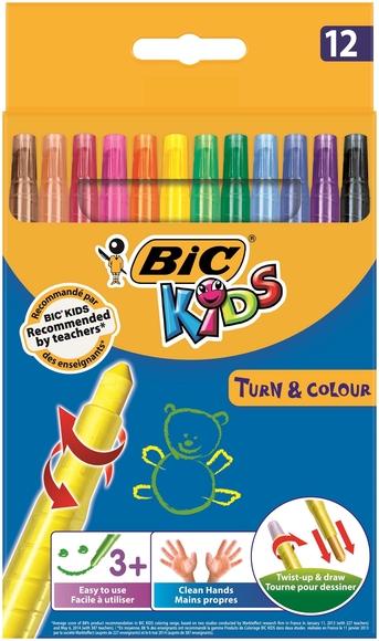 Bic Kids Çevirmeli Pastel Boya 12 Renk 880508