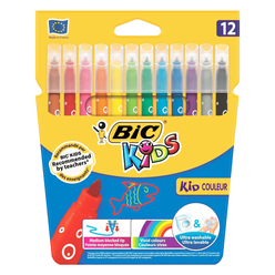 Bic Kids Couler Keçeli Boya Kalemi 12 Renk 920293 - Thumbnail