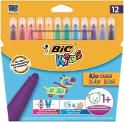 Bic Kids Couleur Baby Keçeli Boya Kalemi 12 Renk 902080 - Thumbnail
