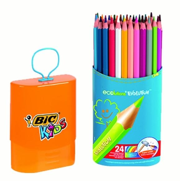 Bic Kids Evolution Kuru Boya Kalemi 24'lü 922511