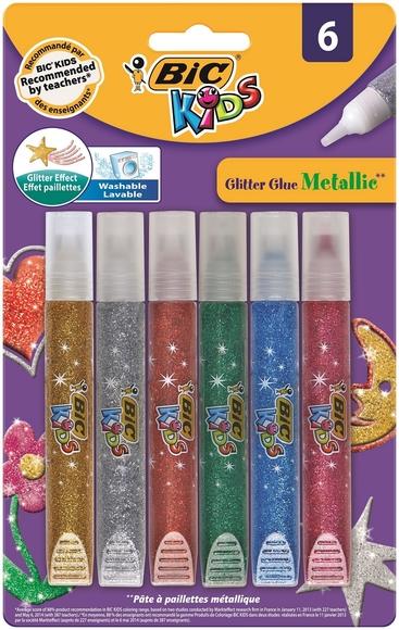 Bic Kids Glitter Glue Metalic 6'lı Simli Yapıştırıcı 893269