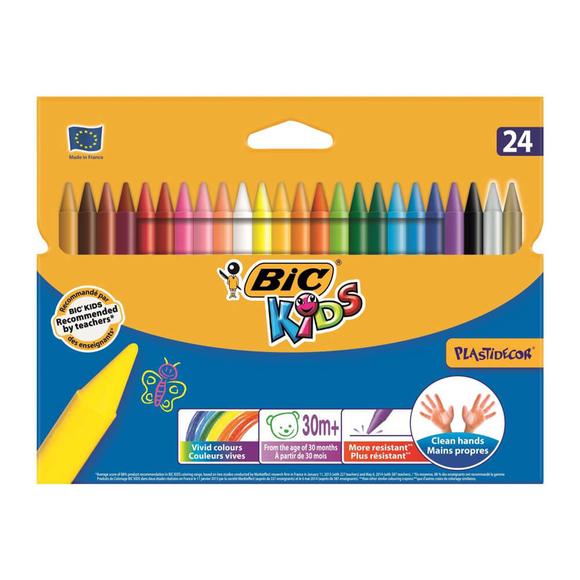 Bic Kids Plastidecor Silinebilir Pastel Boya 24 Renk 829772