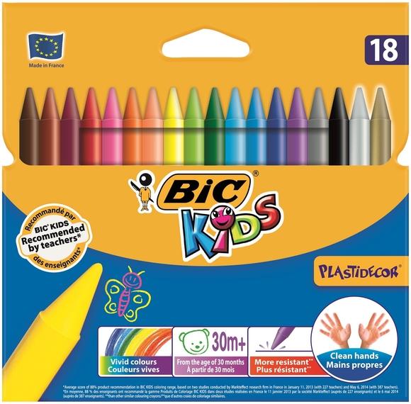 Bic Kids Silinebilir Pastel Boya 18 Renk 829771