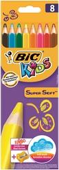 Bic Kids Super Soft Kuru Boya Kalemi 8 Renk 895921 - Thumbnail