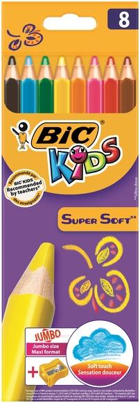 Bic Kids Super Soft Kuru Boya Kalemi 8 Renk 895921