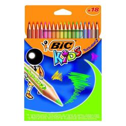 Bic Kids Tropicolors2 Boya Kalemi Uzun 18'li 832567 - Thumbnail