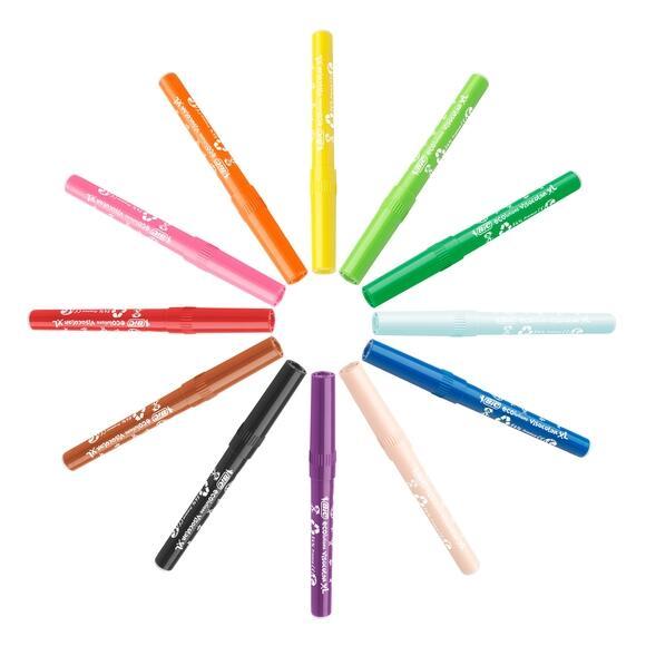Bic Kids Visacolor XL Jumbo Yıkanabilir Keçeli Boya Kalemi 12 Renk 829007