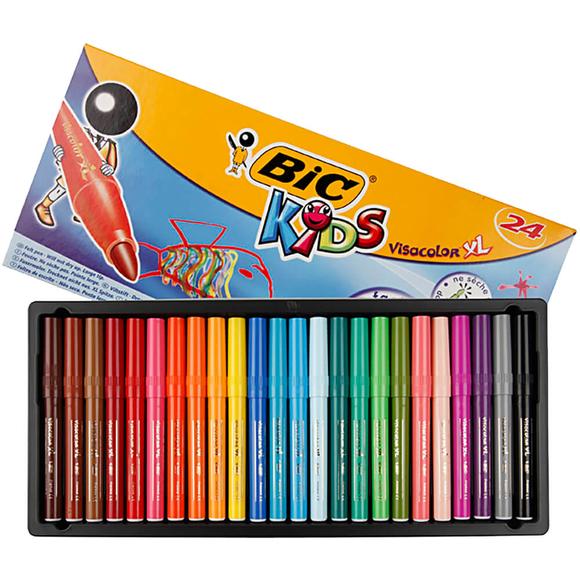 Bic Kids Visacolor Yıkanabilir Jumbo Keçeli Kalem 24 Renk 829005