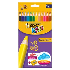 Bic Süper Soft Kuru Boya Kalemi 12 Renk 933960 - Thumbnail