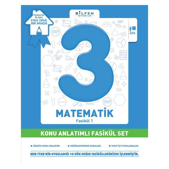 Bilfen 3. Sınıf Matematik Konu Anlatımlı Fasikül Set ve Ödev Fasikülleri