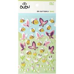 Bu-Bu Keçe Sticker Arı Ve Kelebekler LS0033 - Thumbnail