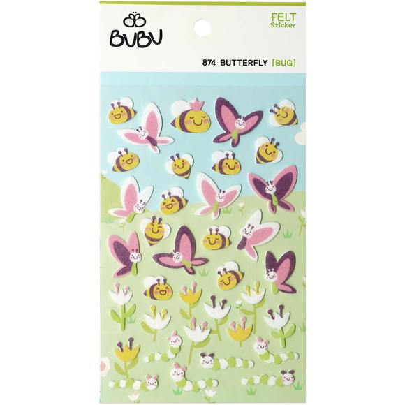 Bu-Bu Keçe Sticker Arı Ve Kelebekler LS0033