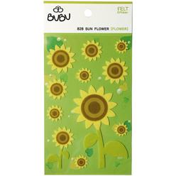Bu-Bu Keçe Sticker Ayçiçeği LS0028 - Thumbnail