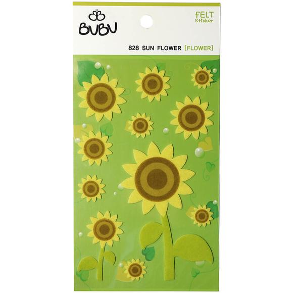 Bu-Bu Keçe Sticker Ayçiçeği LS0028