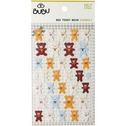 Bu-Bu Keçe Sticker Ayıcıklar LS0032 - Thumbnail