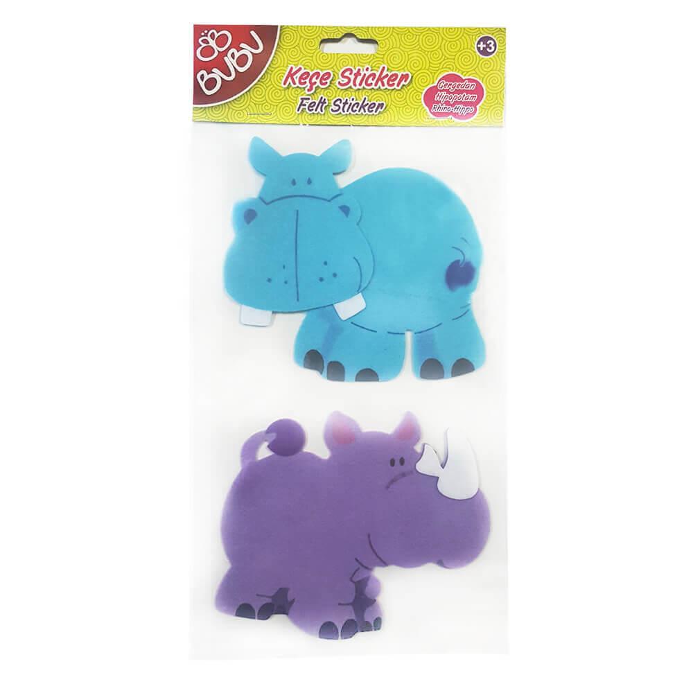 Bu Bu Kece Sticker Hayvanlar Su Aygiri Gergedan Buyuk St0038 Nezih